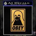Obey Linux B Decal Sticker Gold Vinyl 120x120