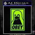 Obey Linux B Decal Sticker Lime Green Vinyl 120x120