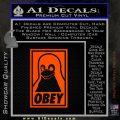 Obey Linux B Decal Sticker Orange Emblem 120x120