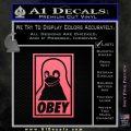 Obey Linux B Decal Sticker Pink Emblem 120x120
