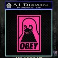 Obey Linux B Decal Sticker Pink Hot Vinyl 120x120