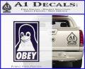 Obey Linux B Decal Sticker PurpleEmblem Logo 120x97