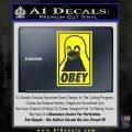 Obey Linux B Decal Sticker Yellow Laptop 120x120