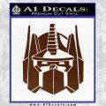 Optimus Prime Decal Sticker Transformers BROWN Vinyl 120x120