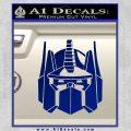 Optimus Prime Decal Sticker Transformers Blue Vinyl 120x120