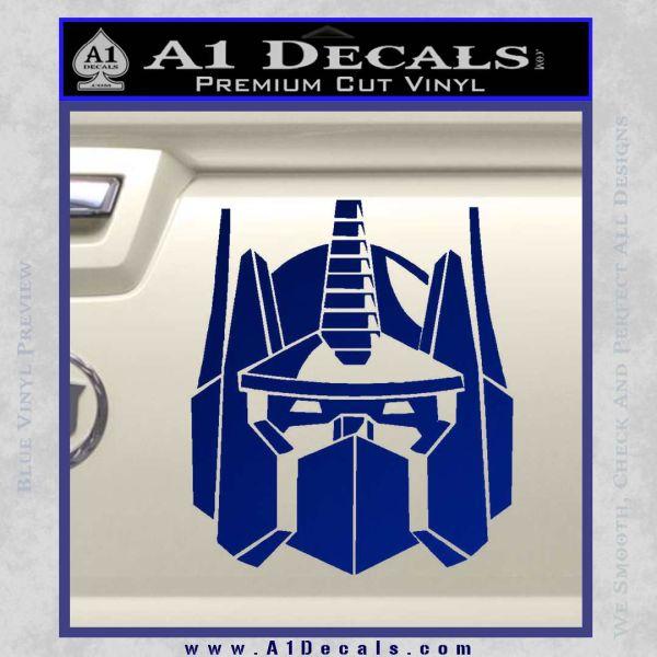 Optimus Prime Decal Sticker Transformers Blue Vinyl