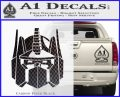 Optimus Prime Decal Sticker Transformers Carbon FIber Black Vinyl 120x97