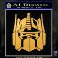 Optimus Prime Decal Sticker Transformers Gold Vinyl 120x120