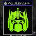 Optimus Prime Decal Sticker Transformers Lime Green Vinyl 120x120