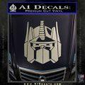 Optimus Prime Decal Sticker Transformers Metallic Silver Emblem 120x120