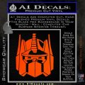 Optimus Prime Decal Sticker Transformers Orange Emblem 120x120