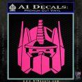 Optimus Prime Decal Sticker Transformers Pink Hot Vinyl 120x120