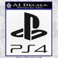 PS4 Playstation 4 Stacked Decal Sticker Black Vinyl 120x120