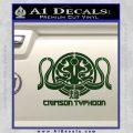 Pacific Rim Crimson Typhoon Decal Sticker Dark Green Vinyl 120x120