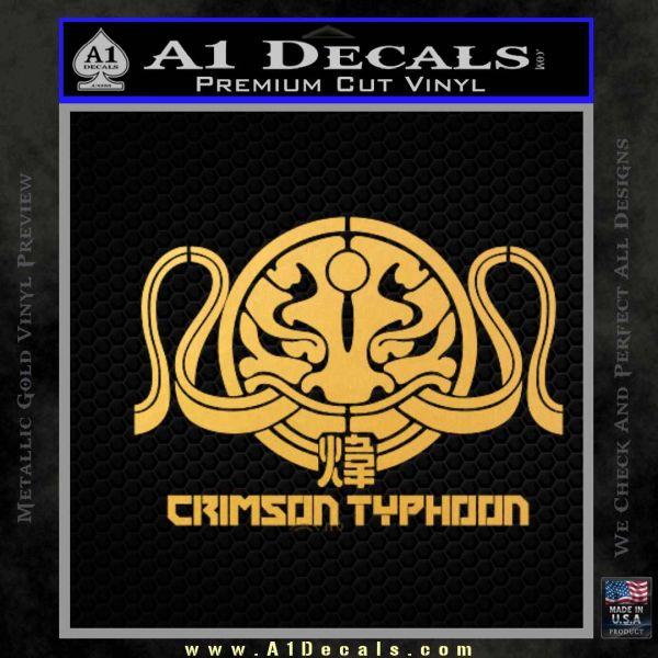 Pacific Rim Crimson Typhoon Decal Sticker Gold Vinyl