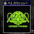 Pacific Rim Crimson Typhoon Decal Sticker Lime Green Vinyl 120x120