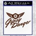 Pacific Rim Gipsy Danger Decal Sticker BROWN Vinyl 120x120