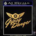 Pacific Rim Gipsy Danger Decal Sticker Gold Vinyl 120x120