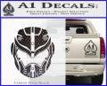 Pacific Rim Helmet Pilot Decal Sticker Carbon FIber Black Vinyl 120x97