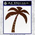Palm Tree Decal Sticker Classic BROWN Vinyl 120x120