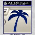 Palm Tree Decal Sticker Classic Blue Vinyl 120x120