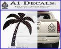 Palm Tree Decal Sticker Classic Carbon FIber Black Vinyl 120x97