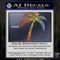 Palm Tree Decal Sticker Classic Glitter Sparkle 120x120