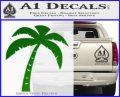 Palm Tree Decal Sticker Classic Green Vinyl Logo 120x97