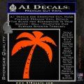 Palm Tree Decal Sticker Classic Orange Emblem 120x120