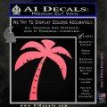 Palm Tree Decal Sticker Classic Pink Emblem 120x120