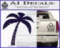 Palm Tree Decal Sticker Classic PurpleEmblem Logo 120x97