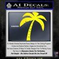 Palm Tree Decal Sticker Classic Yellow Laptop 120x120
