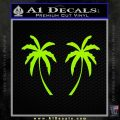 Palm Trees Decal Sticker 2Pk Lime Green Vinyl 120x120