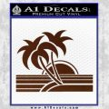 Palm Trees Decal Sticker 80s BROWN Vinyl 120x120