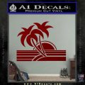 Palm Trees Decal Sticker 80s DRD Vinyl 120x120
