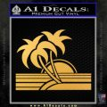Palm Trees Decal Sticker 80s Gold Vinyl 120x120
