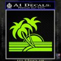 Palm Trees Decal Sticker 80s Lime Green Vinyl 120x120