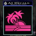 Palm Trees Decal Sticker 80s Pink Hot Vinyl 120x120