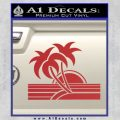 Palm Trees Decal Sticker 80s Red 120x120