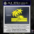 Palm Trees Decal Sticker 80s Yellow Laptop 120x120