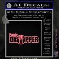 Panty Dropper Wide Decal Sticker Pink Emblem 120x120