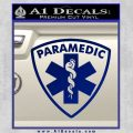 Paramedic Triangular Badge Decal Sticker Blue Vinyl 120x120