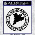 Paranormal Investigator Decal Sticker Ghost Black Vinyl 120x120
