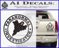 Paranormal Investigator Decal Sticker Ghost Carbon FIber Black Vinyl 120x97