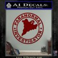 Paranormal Investigator Decal Sticker Ghost DRD Vinyl 120x120