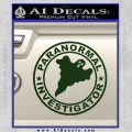 Paranormal Investigator Decal Sticker Ghost Dark Green Vinyl 120x120