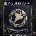 Paranormal Investigator Decal Sticker Ghost Metallic Silver Emblem 120x120