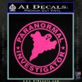 Paranormal Investigator Decal Sticker Ghost Pink Hot Vinyl 120x120