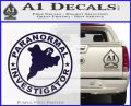 Paranormal Investigator Decal Sticker Ghost PurpleEmblem Logo 120x97