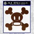 Paul Frank Skurvy Skull Decal Sticker BROWN Vinyl 120x120